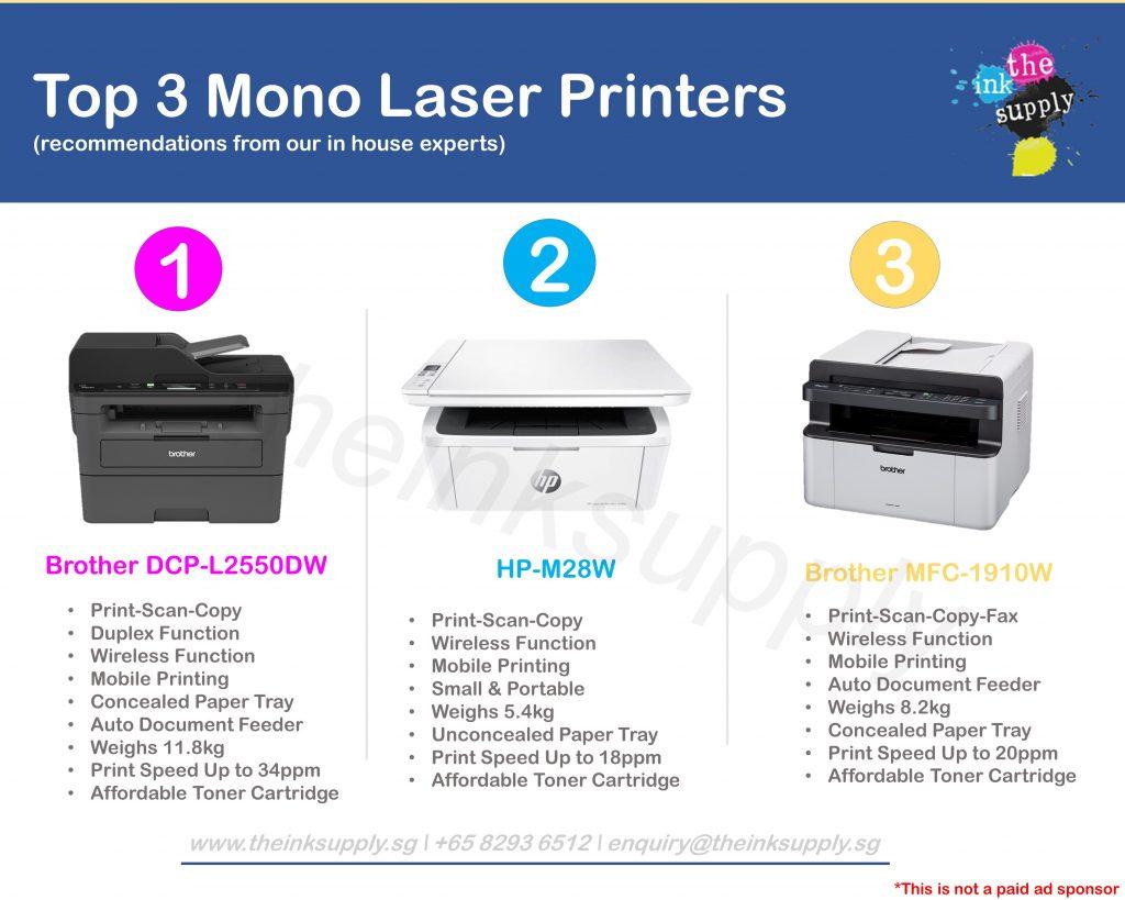 top 3 mono laser printers