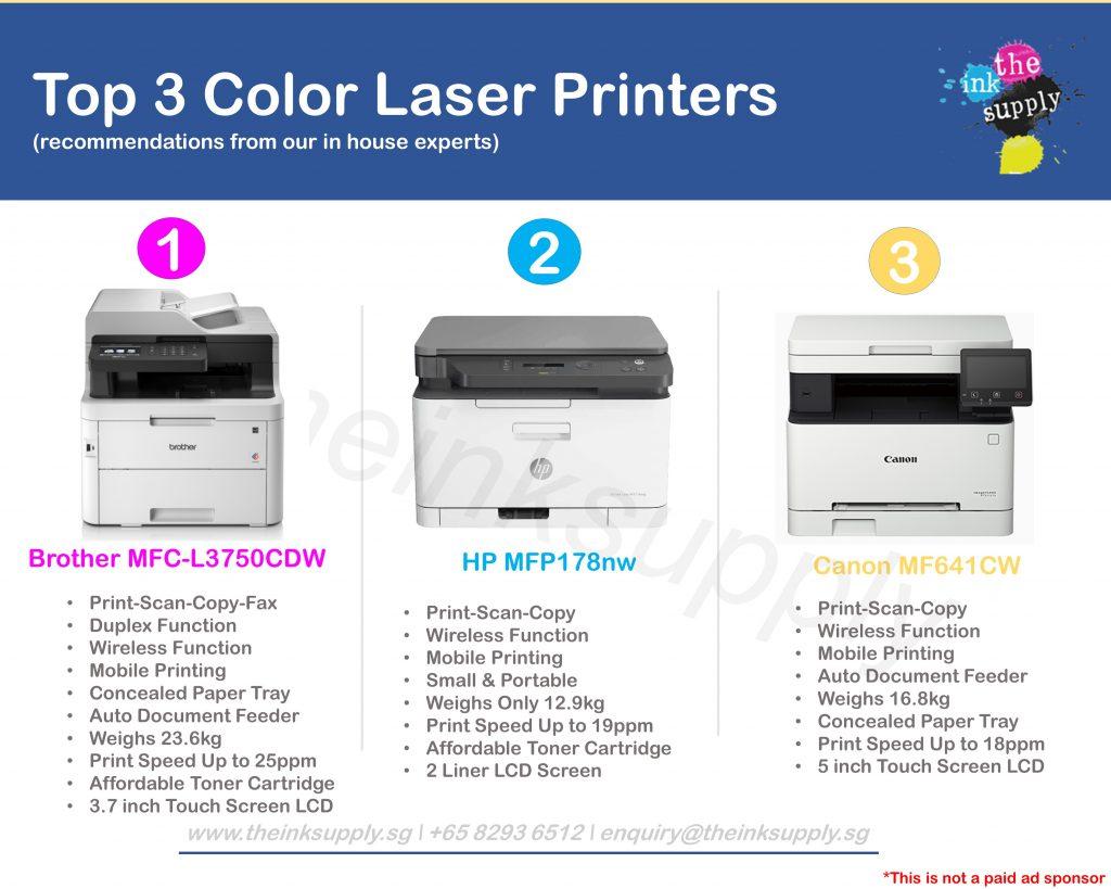 top 3 color laser printer